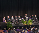 The opening ceremony of the 150th kickoff in Ahearn Field House.
