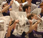 Student section at K-State basketball