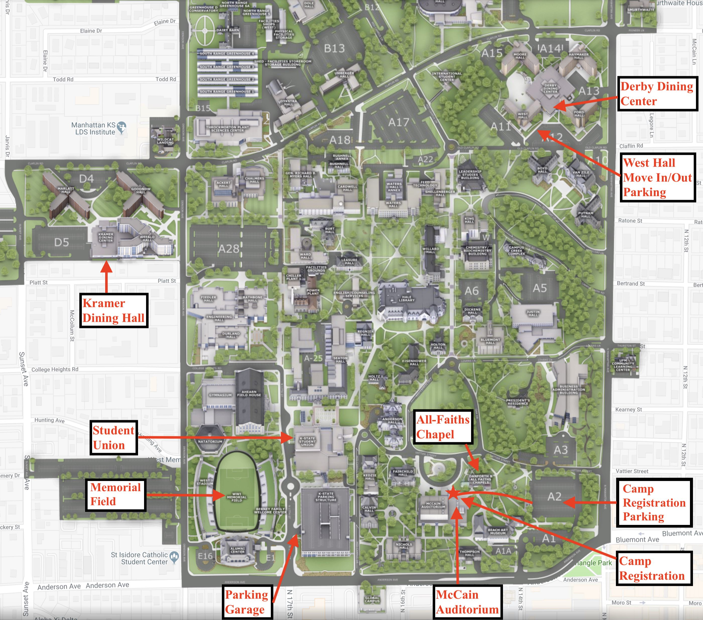 Ksu Campus Map Map Out A Run Franklin Maps