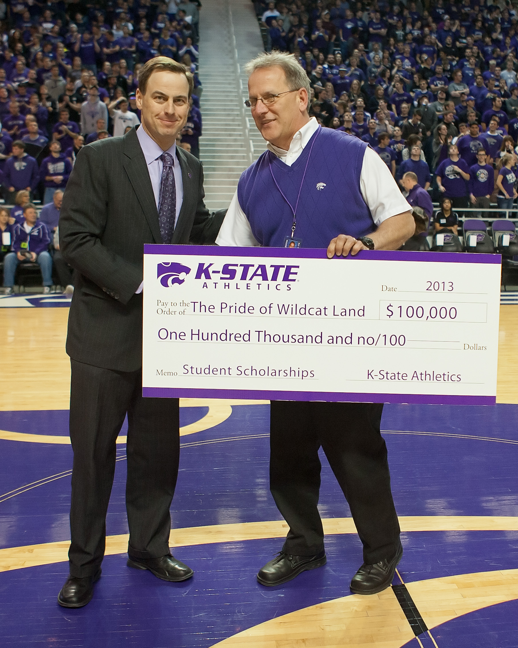 the k state marching band recieves significant donation to scholarship ...