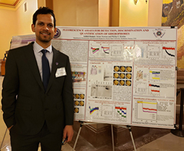 Ashish Kumar and his poster at Topeka