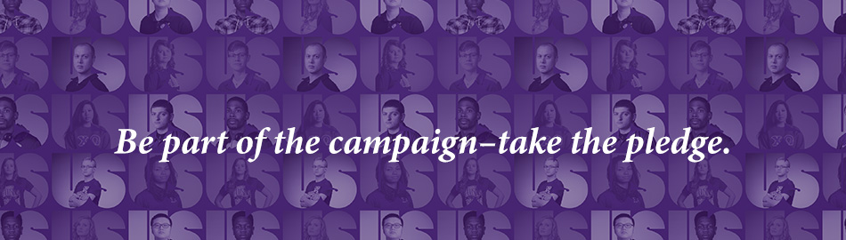 Be part of the campaign - take the pledge.