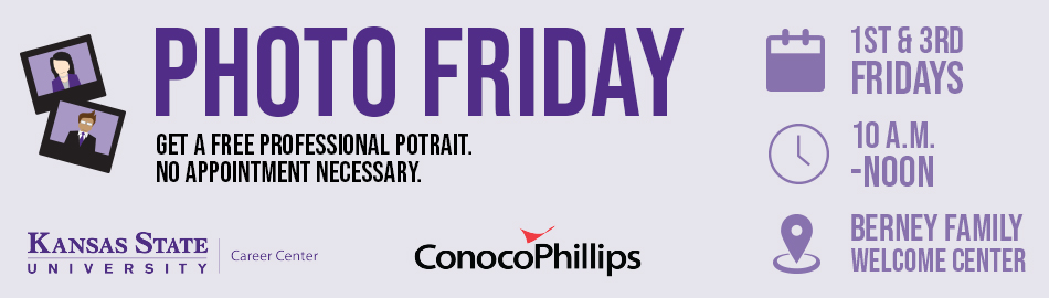 Photo Friday - Get a free professional portrait. No appointment necessary. 1st and 3rd Fridays of the month, 10 A.M. - noon at the Berney Family Welcome Center.