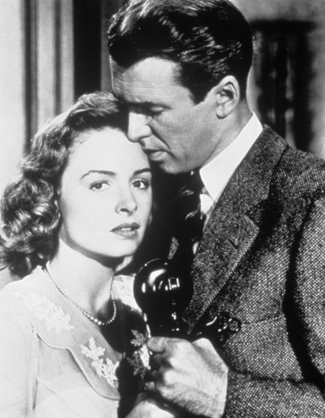 Donna Reed and James Stewart from It's a Wonderful Life