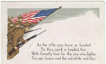 WWI poetry postcard