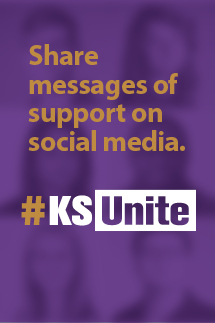 Share support on social media #KSUnite