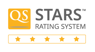 5 Stars badge from QS Stars