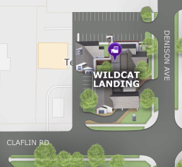 Wildcat Landing on the campus map