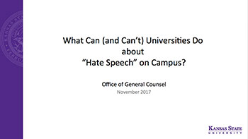 Campus speech powerpoint slide image