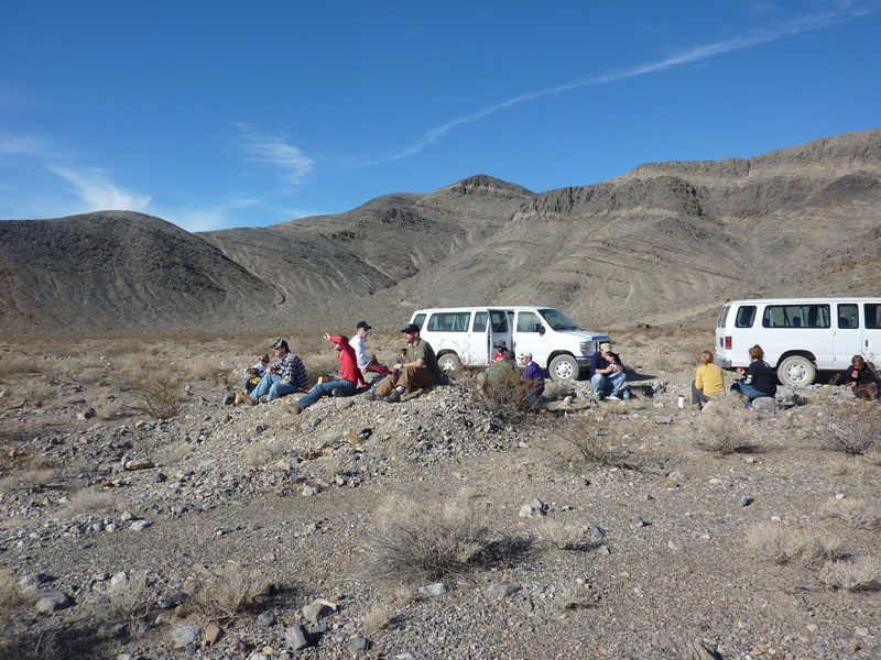 lunch near Racetrack playa, death valley