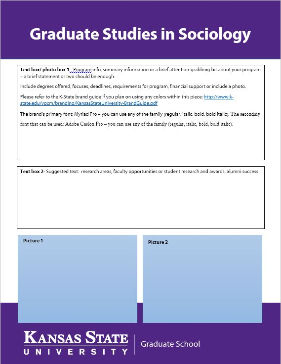 Recruitment Brochure Grad Program Template