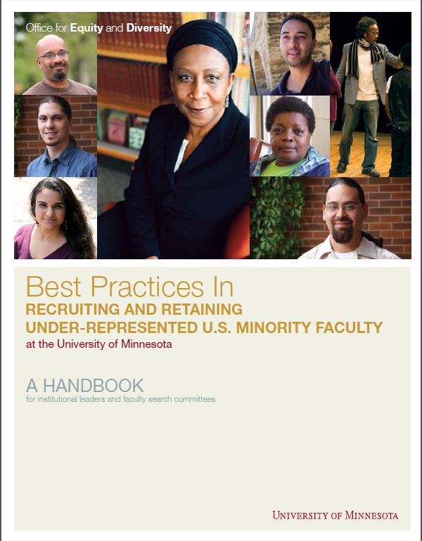 best practices for equity and diversity with diverse faculty