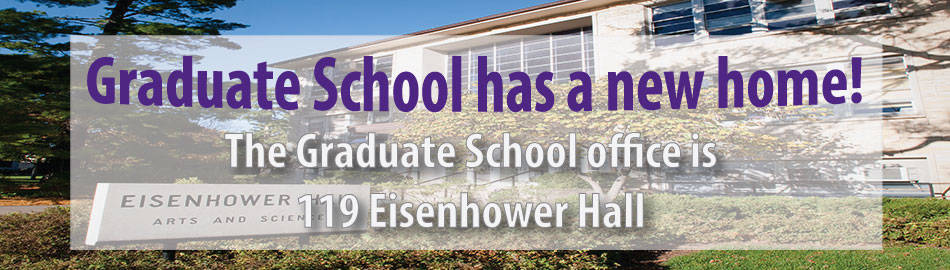 Eisenhower is the new home of the Graduate School