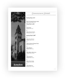 Fall Commencement 2016 program