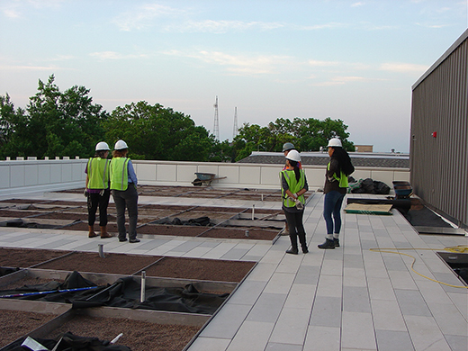 During construction of the APDesign experimental roof