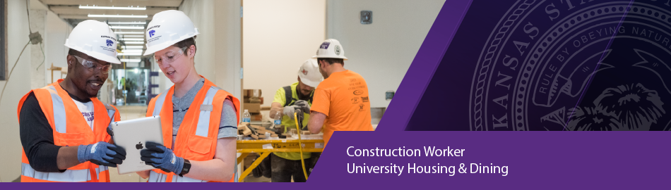 Construction Worker, University Housing and Dining