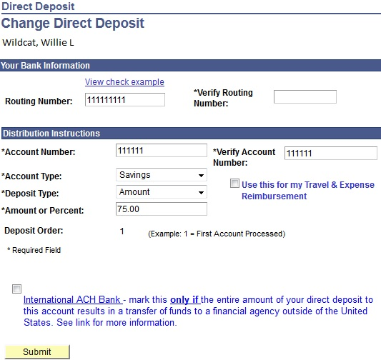 account detail