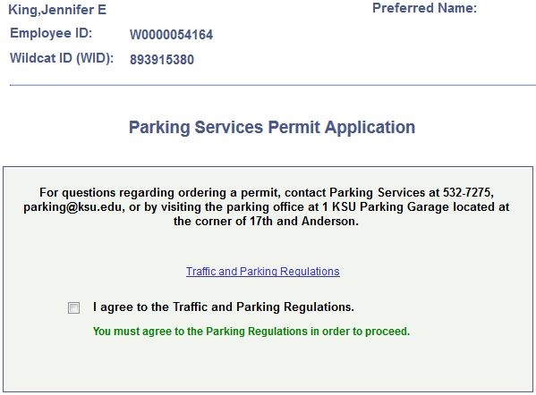 to order a parking permit