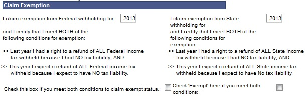 Claim Federal or State Exemption