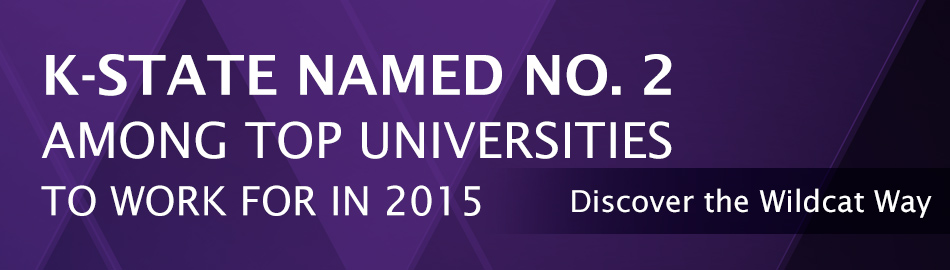 k-state named number 2 among top universities to work for in 2015