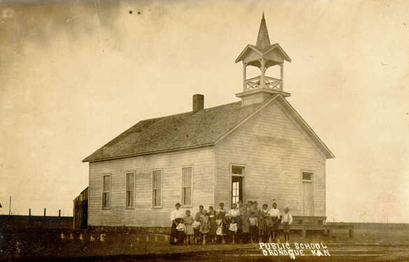 Oronoque, KS, Public School ca1917