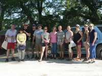 Agricultural history conference canoe trip participants
