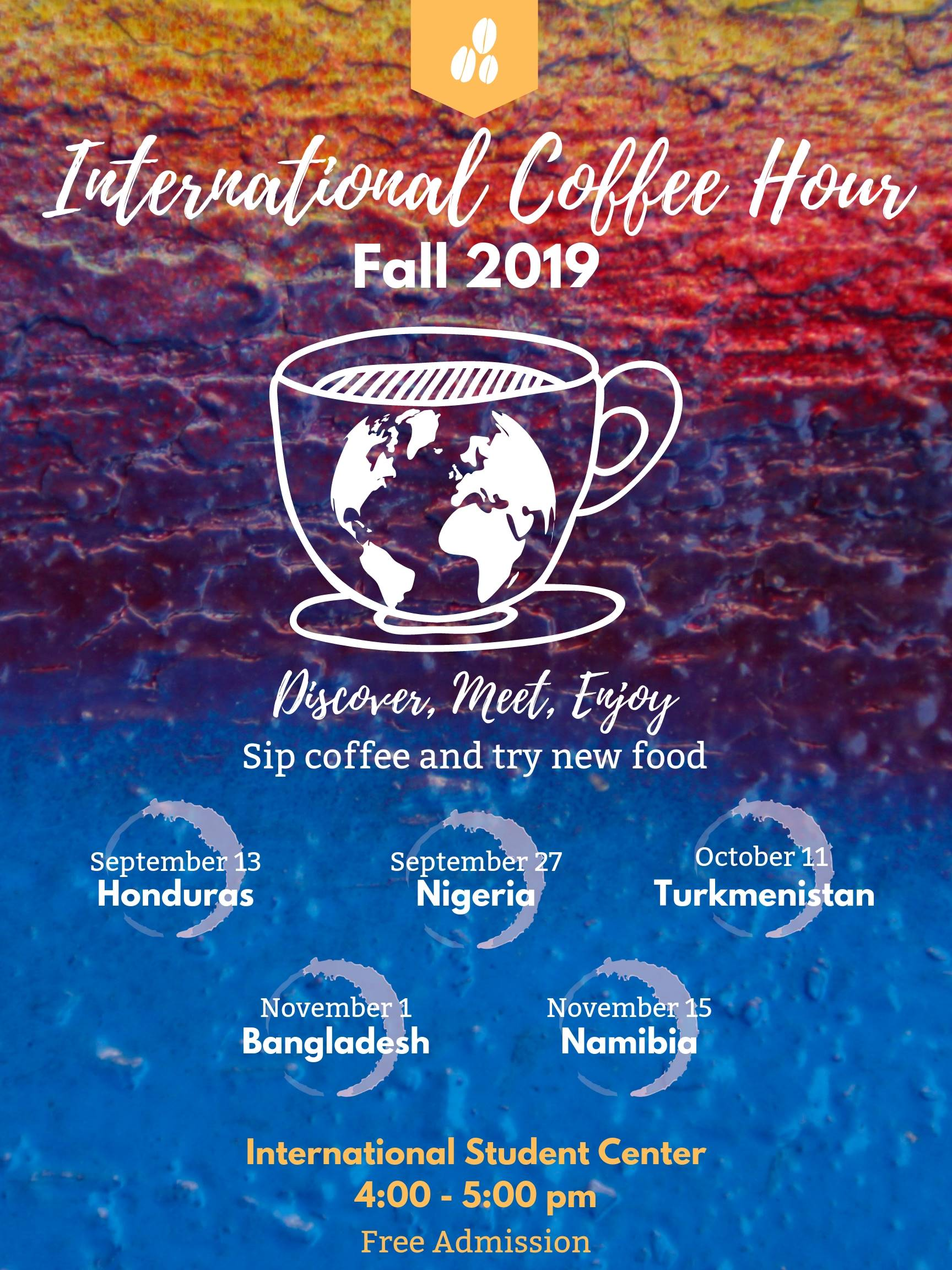 Fall 2019 Cofee Hour Poster