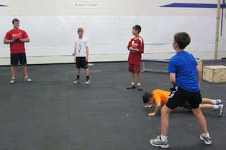 Youth Camp Participants Enjoy Conditioning Exercises and Games