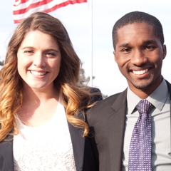 2013 K-State Student Ambassadors Jordan Priddle and Tyler Johnson