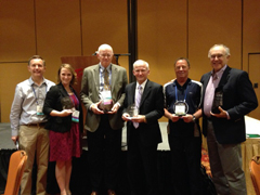 Awards winners at the ACHE conference
