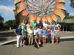 University of Costa Rica and K-State students and faculty on the University of Costa Rica campus
