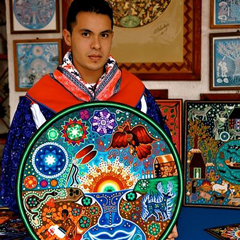 Cilau Valdez, an international art award winner and Huichol yarn painter, will be leading a workshop and lecturing on Feb. 17th and 18th.