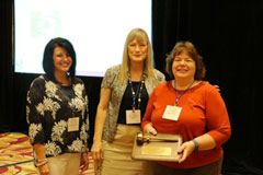 Shanna Legleiter (left) with fellow CUPA members Barbara Carroll, Vice Chancellor North Carolina State University (Center) and Connie Deel, (right) Chief Human Resources Officer, Baker University receive inaugural gavel
