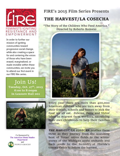 Flyer for The Harvest Film