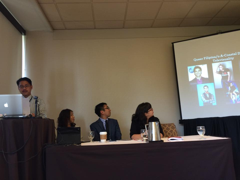 Tom Sarmiento presenting at the 2015 American Studies Association Conference