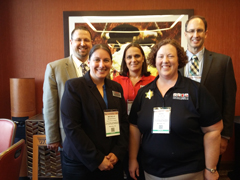 Hospitality management faculty at the School Nutrition Association national conference