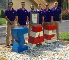 SAE officers with Chapter Achievement Award