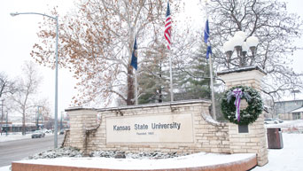 K-State in the winter.