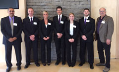 photo of IBA team and faculty advisors