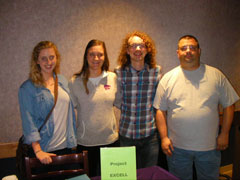 Four future teachers who taught Project EXCELL classes this session.