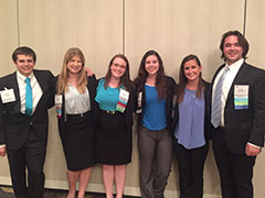 SHRM Case Competition team members Philip Wegman, Katie Walker, Erica Modzelewski, Audrey Oswald, Courtney Kelly, and Austin Crowder.