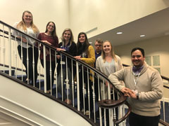 Mac Benavides and several future teachers attend a regional Ed Rising conference in Topeka.
