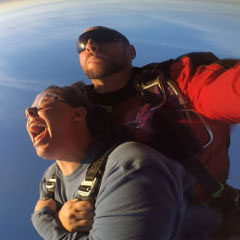 A tandem skydive from the Fall Supervan Weekend, 2016