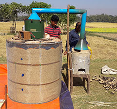 Villagers in Bangladesh are using a portable dryer developed by researchers to help preserve rise and reduce the risk of mold during storage.