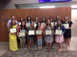 Kinesiology student scholarship winners