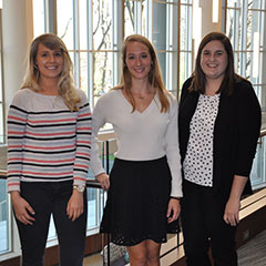 From left: Shelby Heydon, Amy Hein and Michelle Dorsey