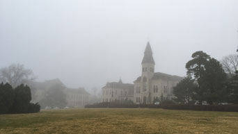 Fog near Anderson Hall