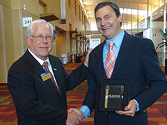 AVMA President Dr. Tom Meyer and KSUCVM's Dr. Hans Coetzee