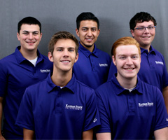 Five new student ambassadors have been chosen to represent Kansas State Polytechnic for the 2017-2018 academic year. Back row, from left: JT Brantley, Juan Diaz and Clayton Bettenbrock; and front row, from left: Logan Renz and Colton Linenberger.