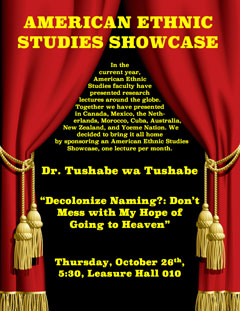 American Ethnic Studies Showcase lecture series